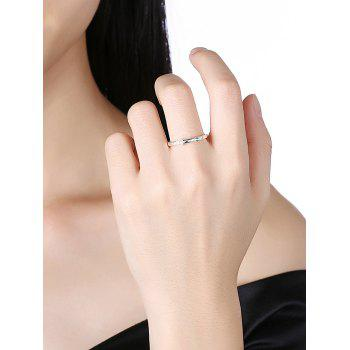 Faux Pearl Alloy Ball Finger Ring - SILVER 6