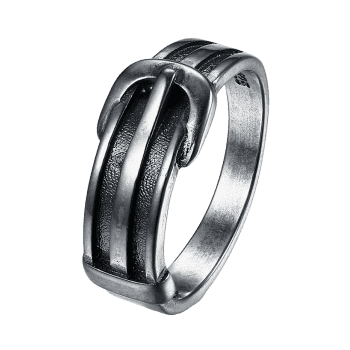 Unique Alloy Belt Ring - SILVER SILVER