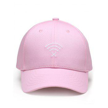 Funny WIFI No Signal Decoration Baseball Hat - PAPAYA