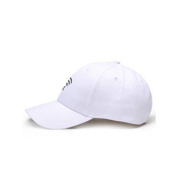 Funny WIFI No Signal Decoration Baseball Hat -  WHITE