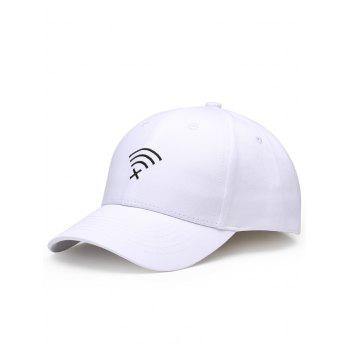 Funny WIFI No Signal Decoration Baseball Hat - WHITE WHITE