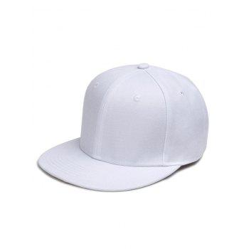 Outdoor Line Embroidered Flat Brim Graphic Hat - WHITE WHITE