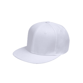 Outdoor Line Embroidered Flat Brim Graphic Hat -  WHITE
