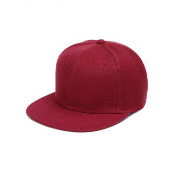 Outdoor Line Embroidered Flat Brim Graphic Hat - WINE RED WINE RED