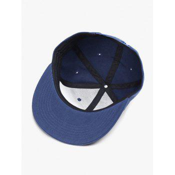 Outdoor Line Embroidered Flat Brim Graphic Hat -  CERULEAN