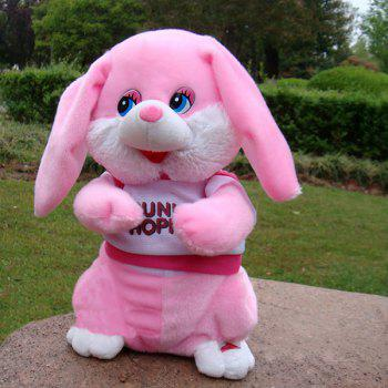 Stuffed Plush Toy Electric Funny Music Dancing Bunny - PINK