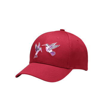 Outdoor Birds Embroidery Decoration Baseball Cap - WINE RED