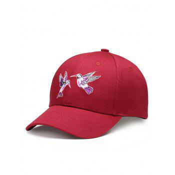 Outdoor Birds Embroidery Decoration Baseball Cap - WINE RED WINE RED
