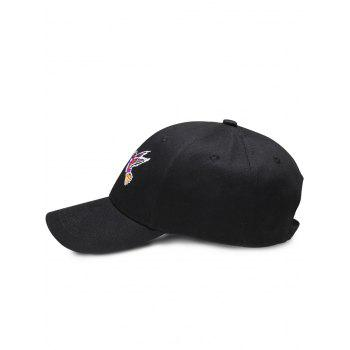 Outdoor Birds Embroidery Decoration Baseball Cap - BLACK