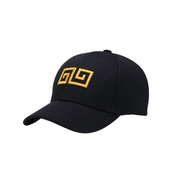 Outdoor Geometric Pattern Embroidery Graphic Hat - BLACK