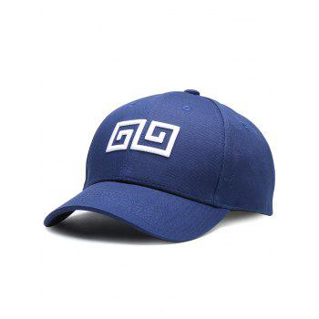 Outdoor Geometric Pattern Embroidery Graphic Hat - CERULEAN CERULEAN