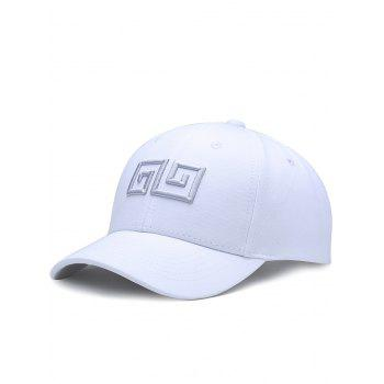 Outdoor Geometric Pattern Embroidery Graphic Hat - WHITE WHITE