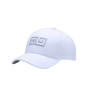 Outdoor Geometric Pattern Embroidery Graphic Hat -  WHITE