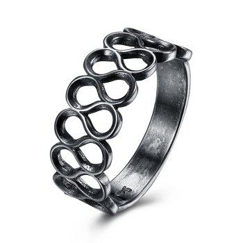 Simple Alloy Infinite Finger Ring - SILVER SILVER