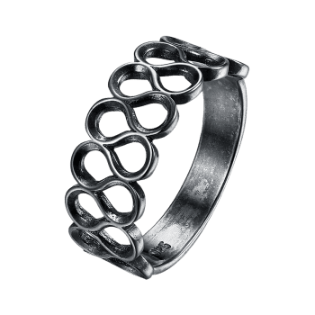 Bague en alliage simple Infinite - Argent 6