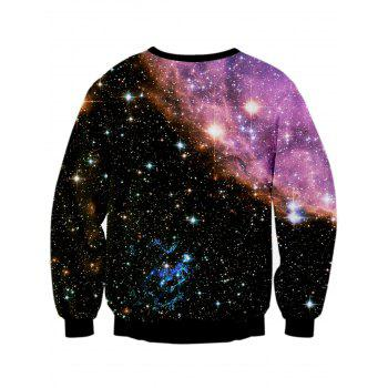 Sweat-shirt Galaxy Starry Sky imprimé 3D - multicolorcolore L