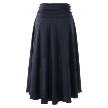 Multi-wear Asymmetrical High Low Skirt - BLACK L