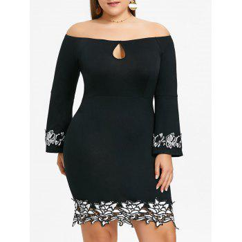 Off The Shoulder Plus Size Bodycon Dress by Dress Lily