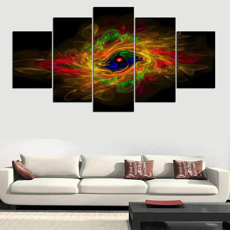 Aurora Vortex Printed Wall Art Hanging Unframed Canvas Paintings burning guitar pattern unframed wall art canvas paintings