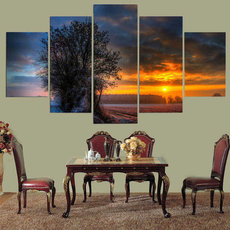 Island Sunset Pattern Wall Art Decor Unframed Canvas Paintings sunset seascape patterned canvas wall art paintings