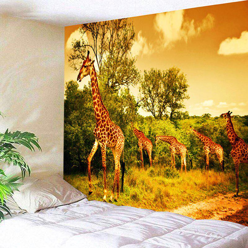 Foraging Giraffes Printed Wall Hanging Tapestry new arrivals remote touch wall switch uk standard 1 gang 1way rf control light crystal glass panel china