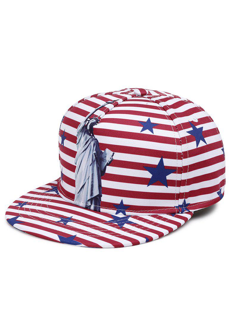 3D Statue of Liberty Pattern Decoration Baseball Cap - RED