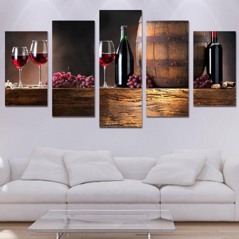 Wooden Cask Grape Wine Canvas Paintings wine cask shape automatic plastic toothpick holder black