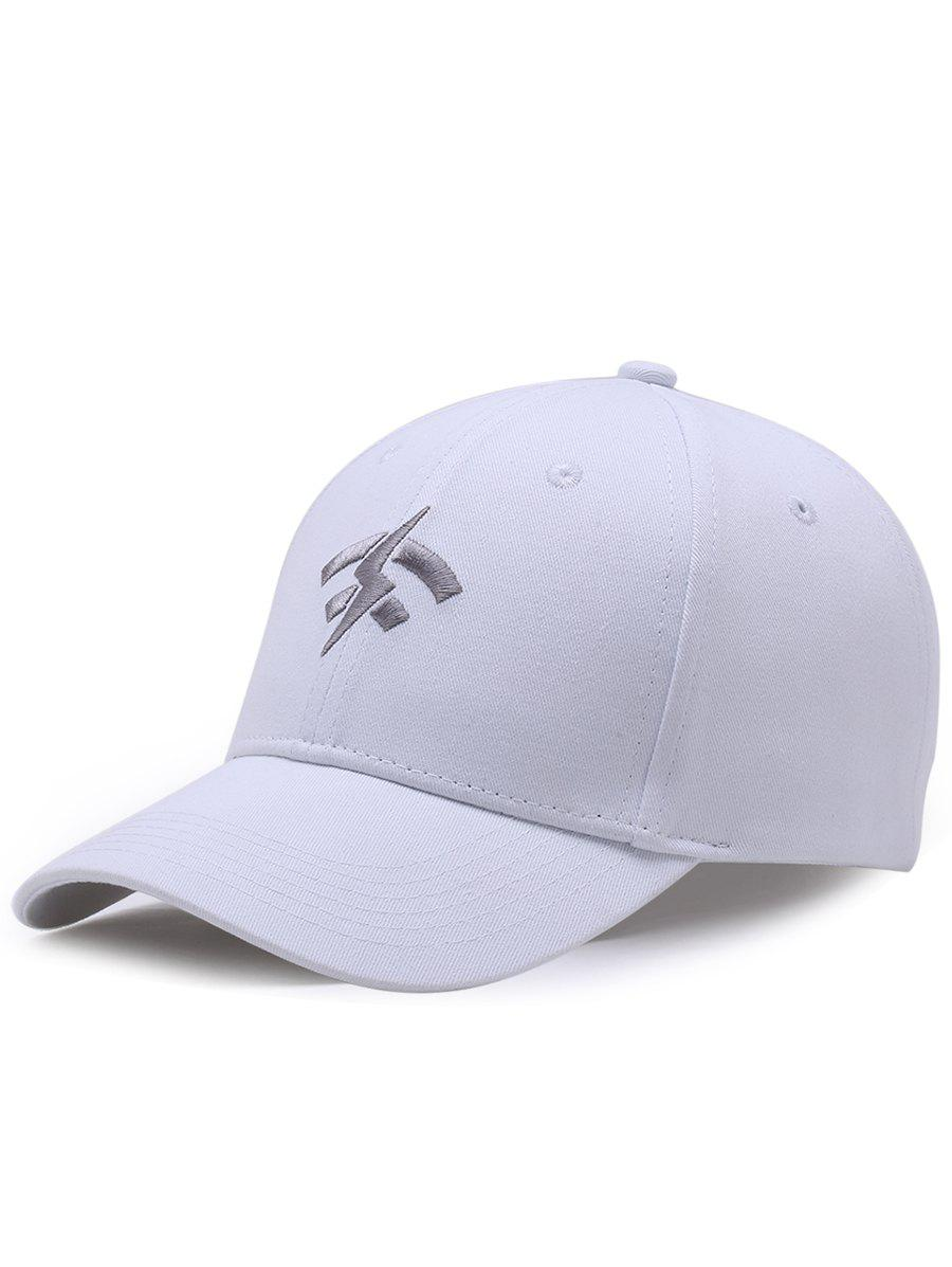 Outdoor Lightning Wifi Pattern Flat Graphic Hat - WHITE