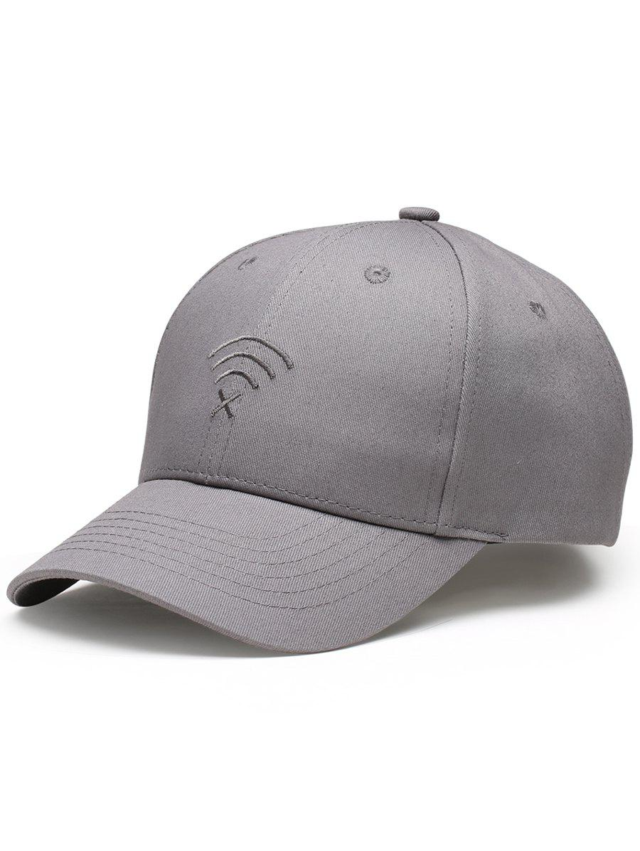 Funny WIFI No Signal Decoration Baseball Hat - GRAY