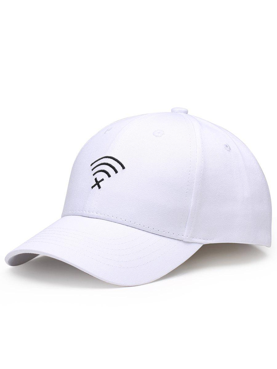 Funny WIFI No Signal Decoration Baseball Cap - WHITE