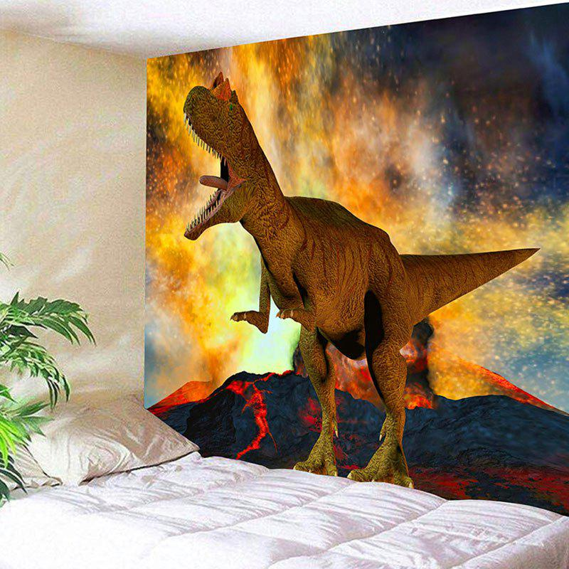 Wall Hanging Volcanic Eruption and Dinosaur Pattern Tapestry dinosaur garden butterfly wall tapestry