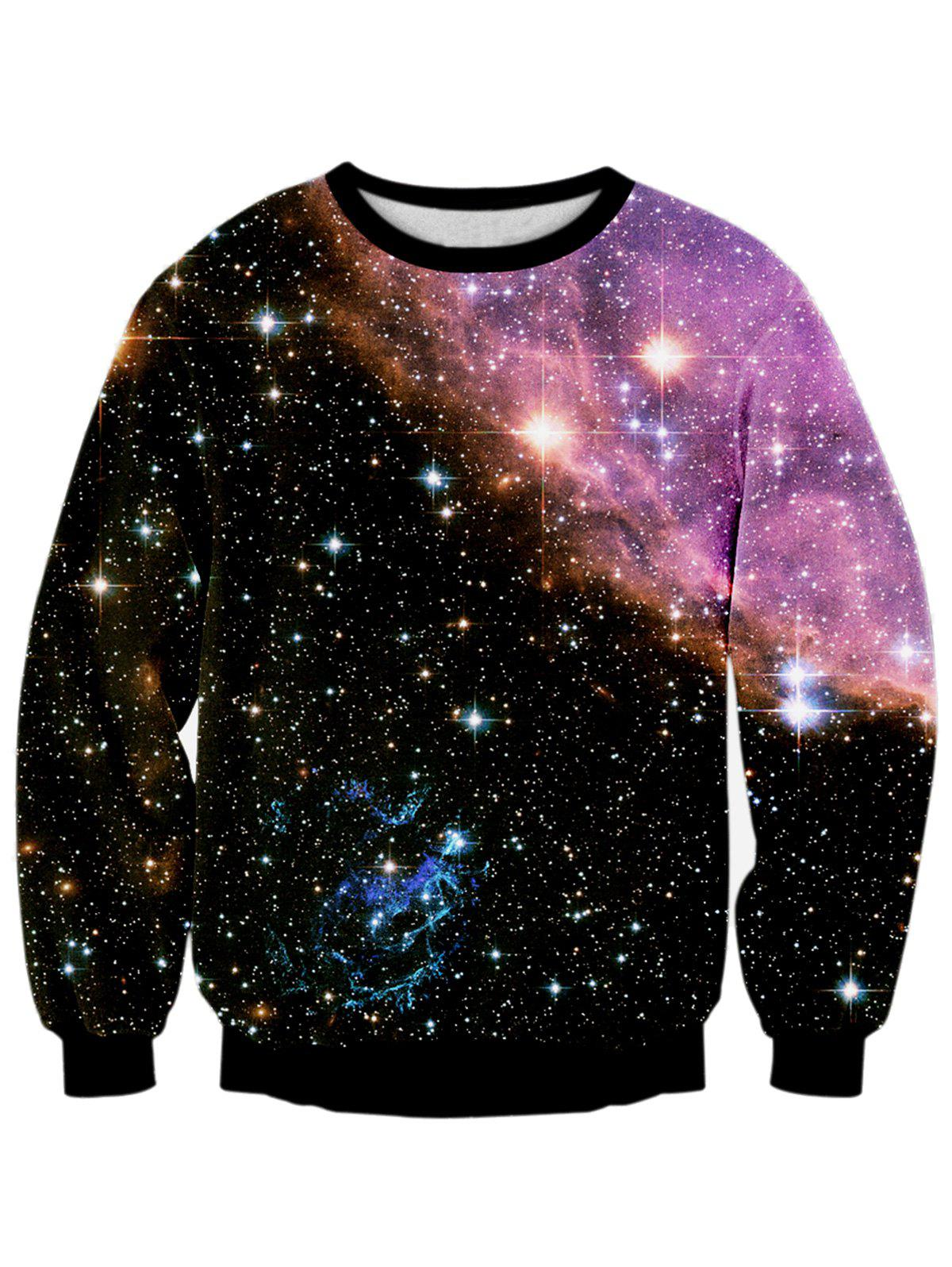 Starry Sky 3D Print Galaxy Sweatshirt sweatshirt with 3d galaxy print