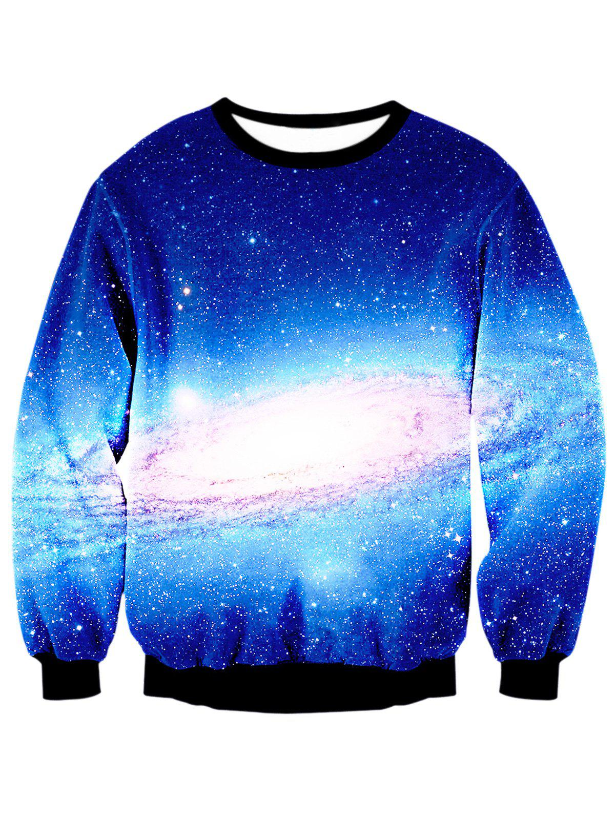 Sweat-shirt à imprimé numérique Galaxy - multicolore L