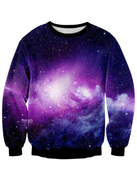 Sweat-shirt 3D Ciel Etoilé Galaxie Imprimé - multicolore M