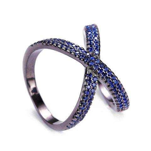 Infinite Artificial Crystal Ring - BLUE 8
