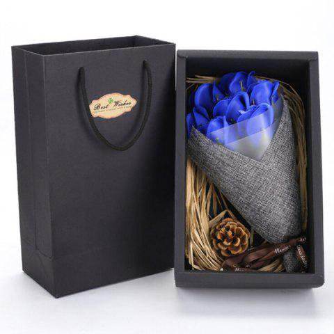Valentine's Day Gift Handmade Soap Artificial Roses - BLUE