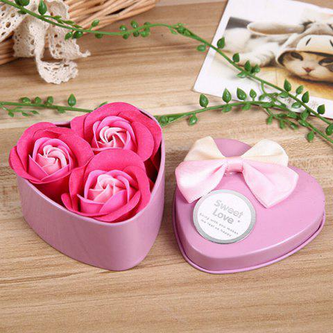 Valentine Gift Confessions of Love Artificial Roses With Iron Box - PINK
