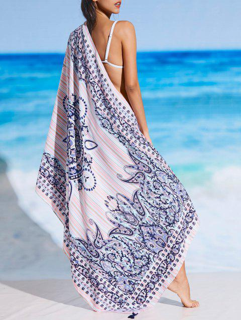 Tribal Pattern Rectangle Sunbath Beach Throw - FLORAL ONE SIZE