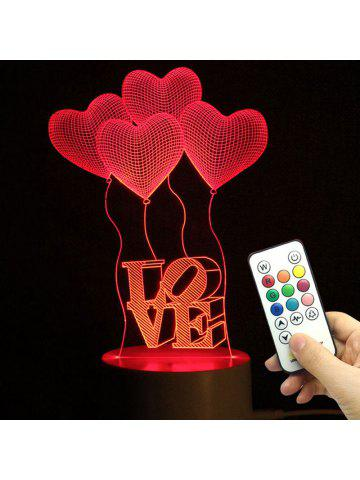 Mothers Day Valentine Heart Ballon Pattern Love Confession Gifts Night Light