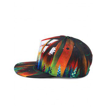 Cute Little Angel Pattern Decoration Snapback Hat - ORANGE