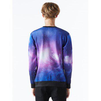 Sweat-shirt imprimé ciel étoilé Galaxy Galaxy - multicolorcolore M
