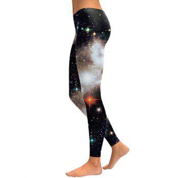 3D Starry Sky Leggings - BLACK L