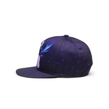 Dreamy Theme 3D Sheep Pattern Baseball Hat - BLUE