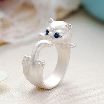 Kitten Cute Finger Ring - SILVER ONE-SIZE