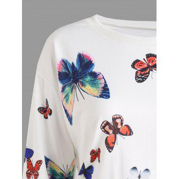 Sweat-shirt graphique papillon - Blanc XL