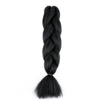 X-pression Long Braid Synthetic Hair Extension - BLACK