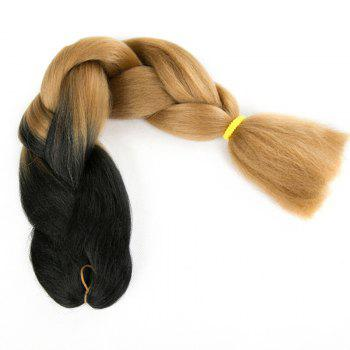 Long X-pression Braid Two Tone Synthetic Wig -  LIGHT BROWN / BLACK