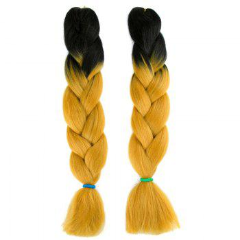 Long X-pression Braid Two Tone Synthetic Wig - BLACK AND GOLDEN BLACK/GOLDEN