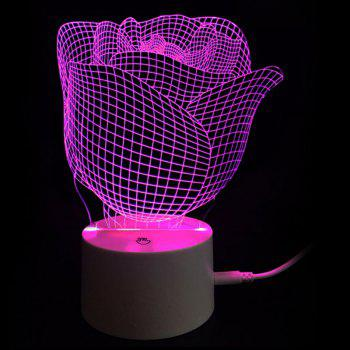 Valentine Rose Color-changing Love Confession Gift Night Light Light - TRANSPARENT