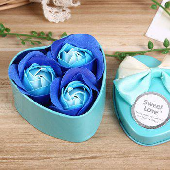 Valentine Confessions of Love Artificial Roses With Iron Box - BLUE